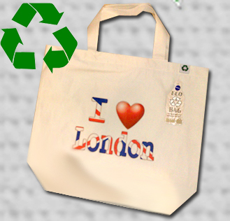 I Love London Tote bag Eco Recycled - British Heritage Brands