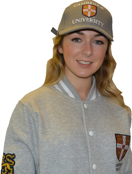 Licensed Cambridge University Baseball Cap Stone Colour - British Heritage Brands