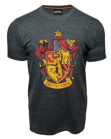 Licensed Unisex Printed Harry Potter Gryffindor T Shirt Charcoal - British Heritage Brands
