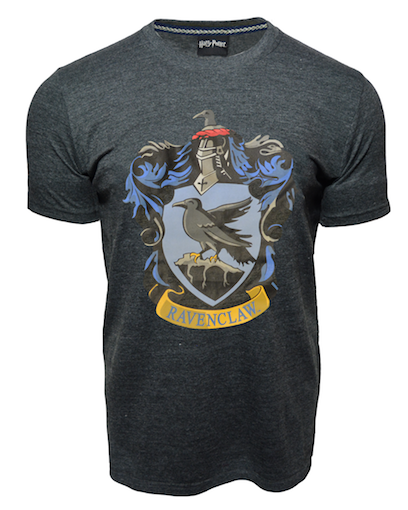 Licensed Unisex Printed Harry Potter Ravenclaw T Shirt Charcoal - British Heritage Brands
