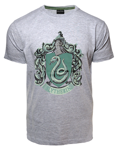 Licensed Unisex Printed Harry Potter Slytherin T Shirt Sports Grey - British Heritage Brands