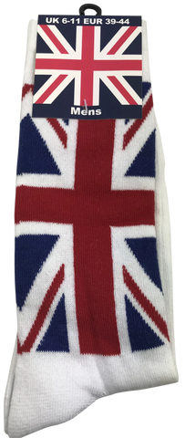 Mens Union Jack Sock White Size 6-11(UK) - British Heritage Brands