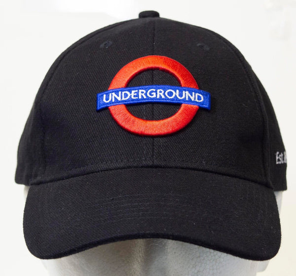 Licensed Unisex London Underground Baseball Cap Black - British Heritage Brands