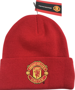 New Era Unisex Licensed Manchester United Cuff Knit Ski Hat Beanie - Red - British Heritage Brands