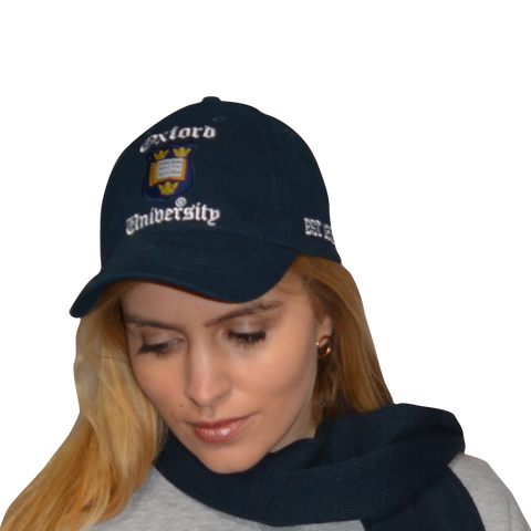 Licensed Oxford University Baseball Cap Navy - British Heritage Brands