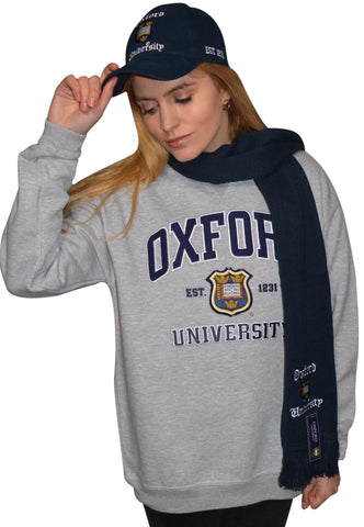 Licensed Oxford University Scarf Navy - British Heritage Brands