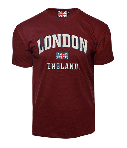 LE105MOW Unisex London england Applique Embroidery T Shirt - British Heritage Brands