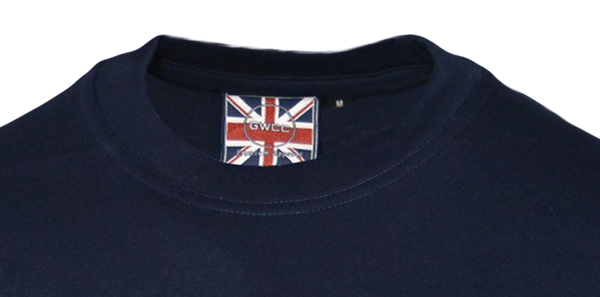 Unisex Oxford University Applique Embroidered T Shirt Navy - British Heritage Brands