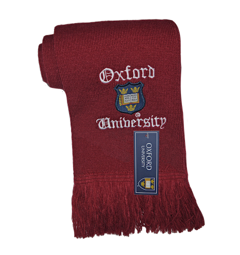 Licensed Oxford University Scarf Maroon - British Heritage Brands