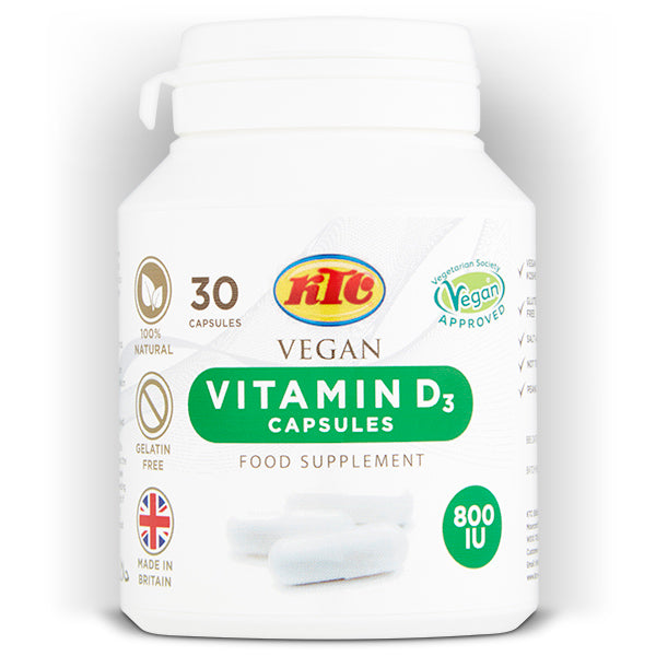 VITAMIN D3 VEGAN SUPPLEMENT CAPSULES 800IU - SkinLinc Healthy Skincare