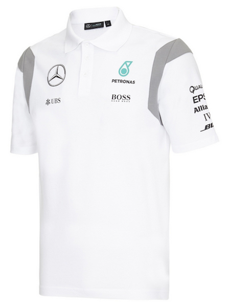 Mercedes AMG Petronas 2016 Team White Polo