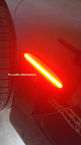 C5 rear smoked LED concept side marker