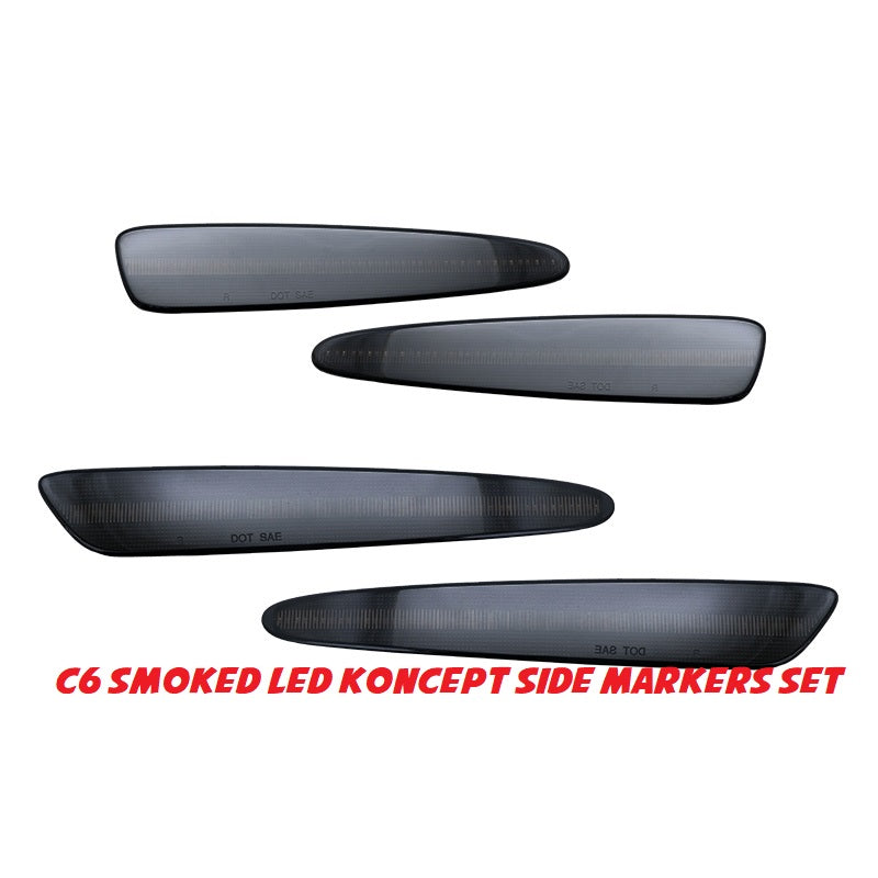 C6 Smoked LED Koncept side markers set