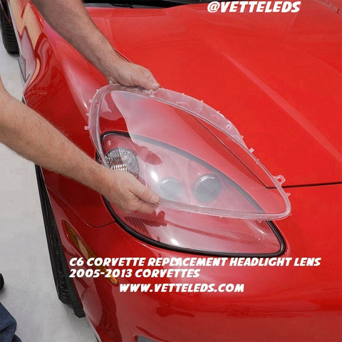 C6 Corvette Replacement Headlight Lens