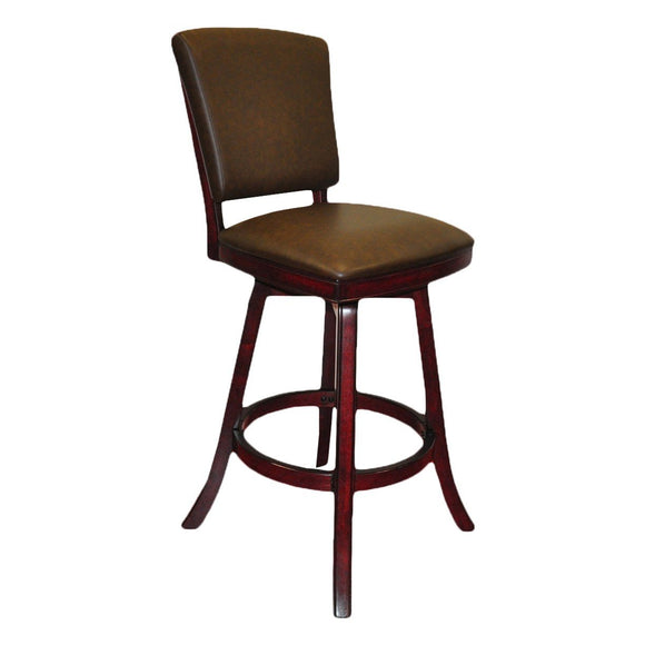 Imperial Bar Stool with Back in Mahogany