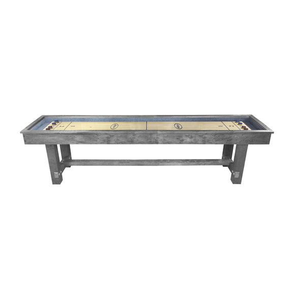 Imperial Reno Rustic 12' Shuffleboard Table in Silver Mist