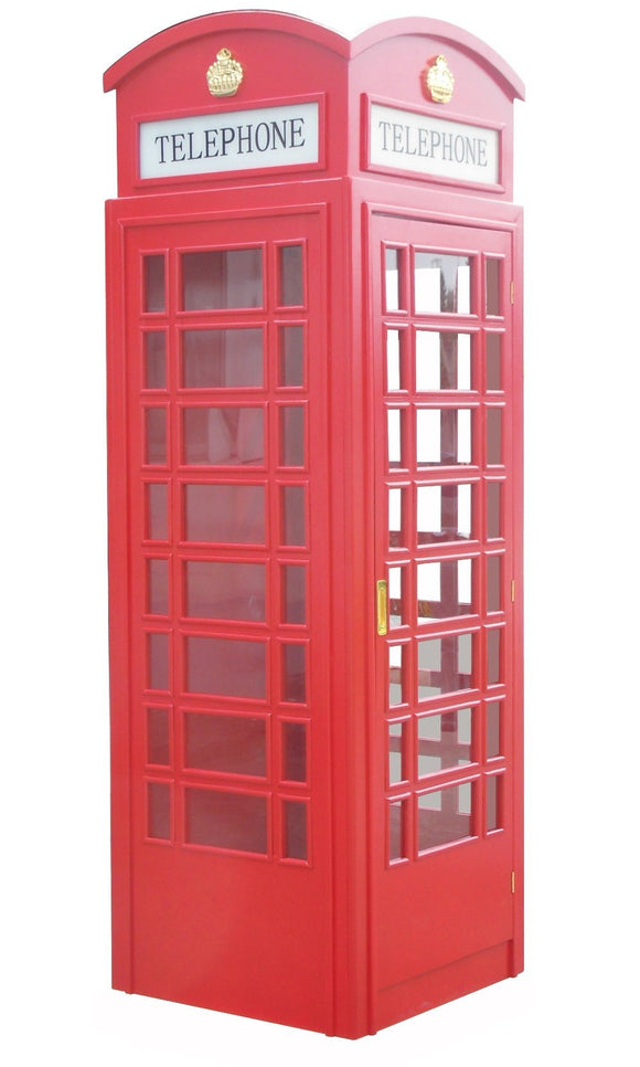Berner English Style Replica Telephone Booth in Red