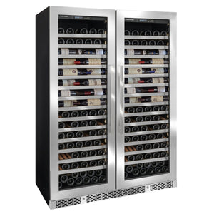 Vinotheque Double Café Single Zone Wine Cellar with Steady Temp Cooling (Stainless Steel Door)