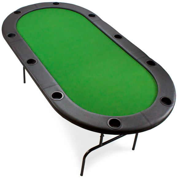 BryBelly 10 Player Metal Frame Poker Table