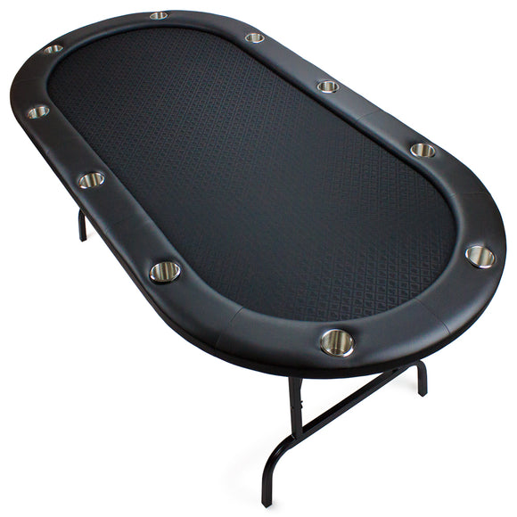 BryBelly Black Suited Speed Cloth Poker Table