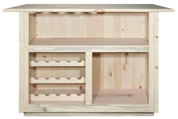 Montana Woodworks Homestead Deluxe Bar with Foot Rail