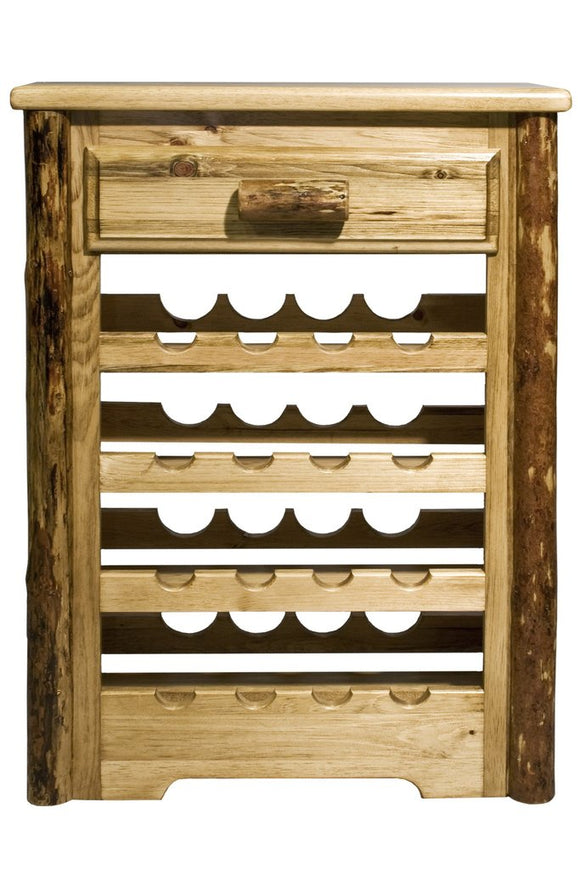Montana Woodworks Glacier Country Log Wine Cabinet