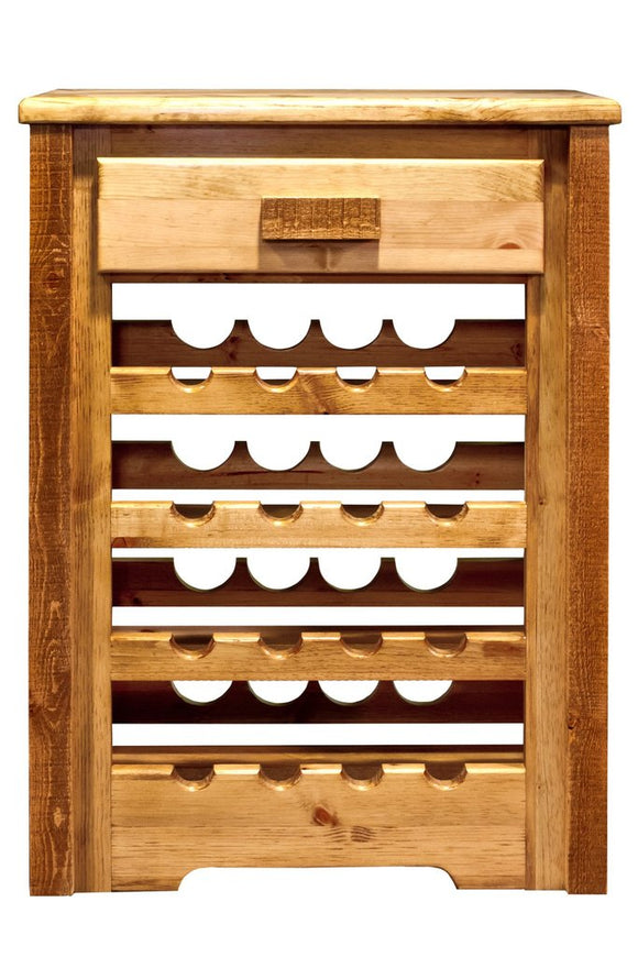Montana Woodworks Homestead Wine Cabinet - Stained and Lacquered