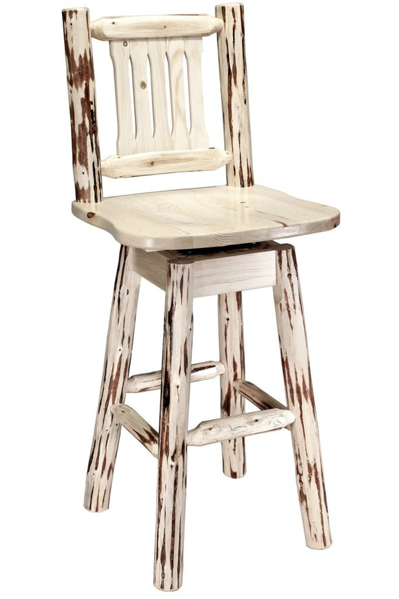 Montana Woodworks Montana Log Swivel Barstool