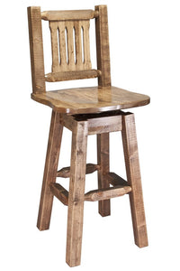 Montana Woodworks Homestead Swivel Barstool - Stained and Lacquered