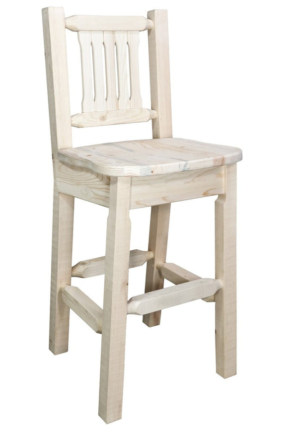Montana Woodworks Homestead Barstool with Back