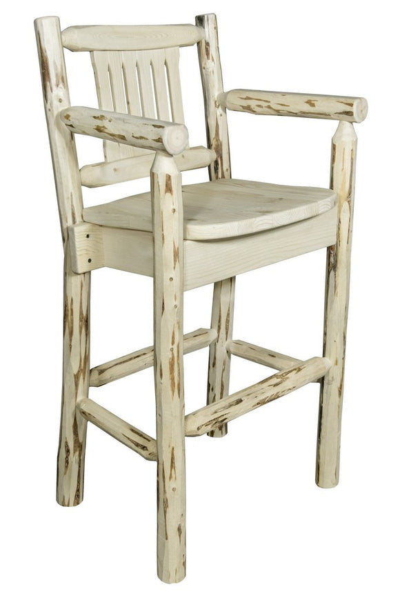 Montana Woodworks Montana Captains Barstool with Back