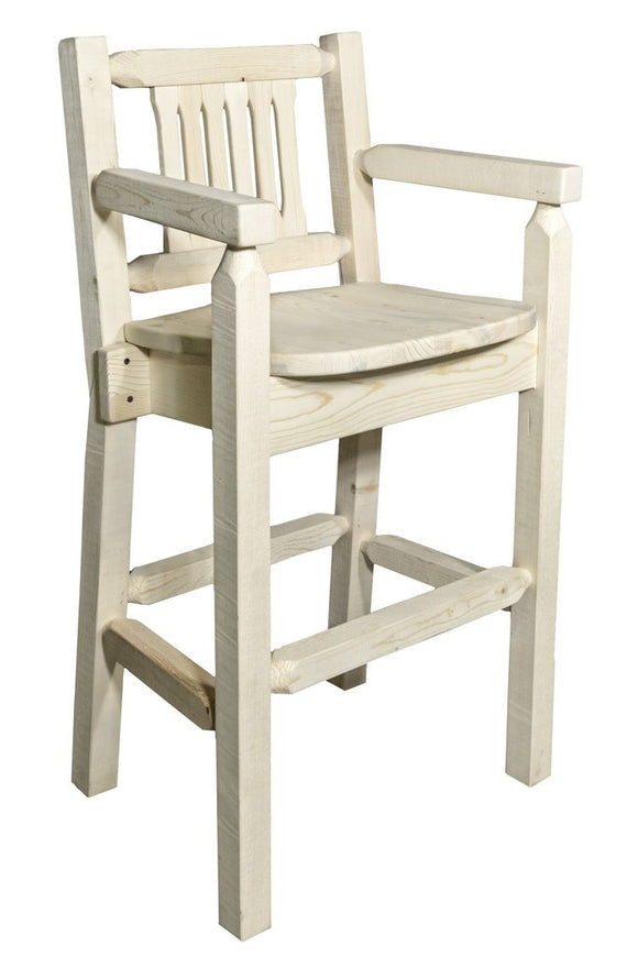 Montana Woodworks Homestead Captains Barstool with Back