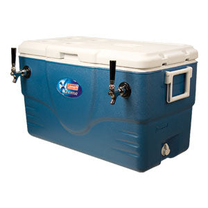 Micro Matic 68 Qt. Jockey Box Coil Cooler - Blue/Gray - Two 120' Coils - 2 Faucet