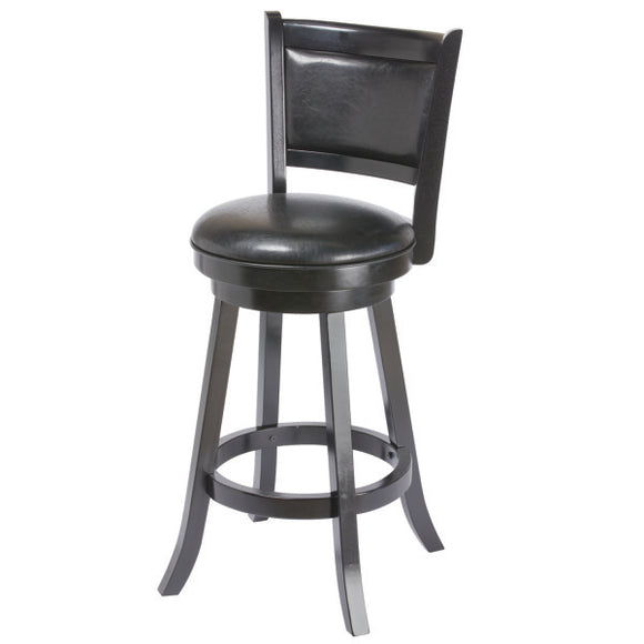 RAM Game Room Backed Barstool - Black