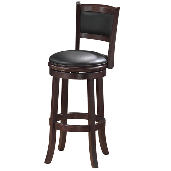 RAM Game Room Backed Barstool - Cappuccino