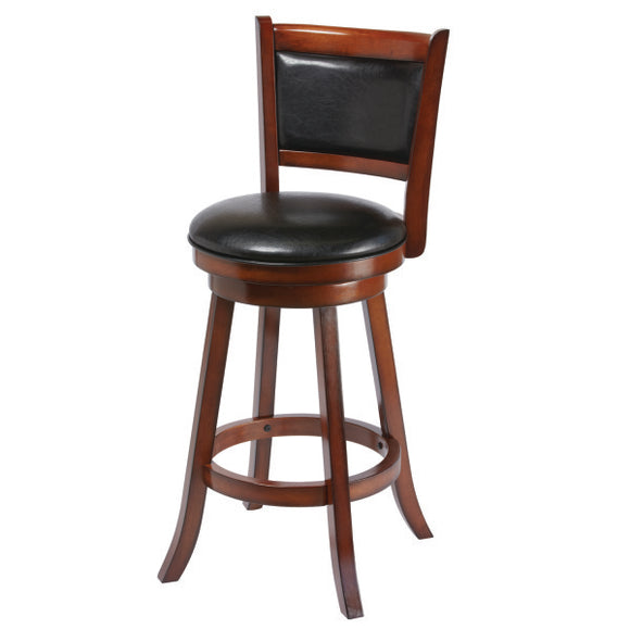 RAM Game Room Backed Barstool - Chestnut