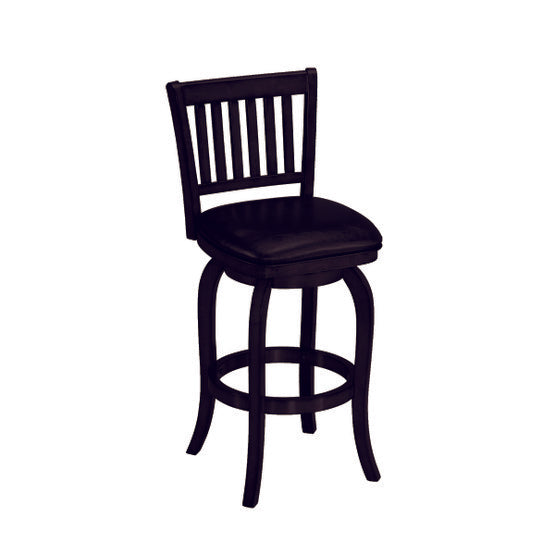 RAM Game Room Backed Barstool Square Seat - Black