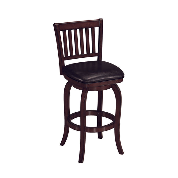 RAM Game Room Backed Barstool Square Seat - Cappuccino