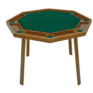 Kestell 8-Player Oak Compact Folding Poker Table