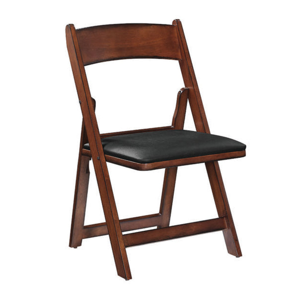 RAM Game Room Folding Game Chair - Chestnut