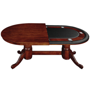 "RAM Game Room 84"" Texas Hold'em Game Table with Dining Top - English Tudor"