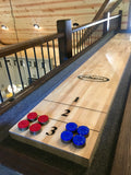 Imperial Reno Rustic 12' Shuffleboard Table in Dark Chestnut