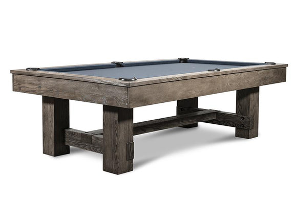 Iron Smyth The Bruiser 8' Slate Pool Table in Charcoal Finish