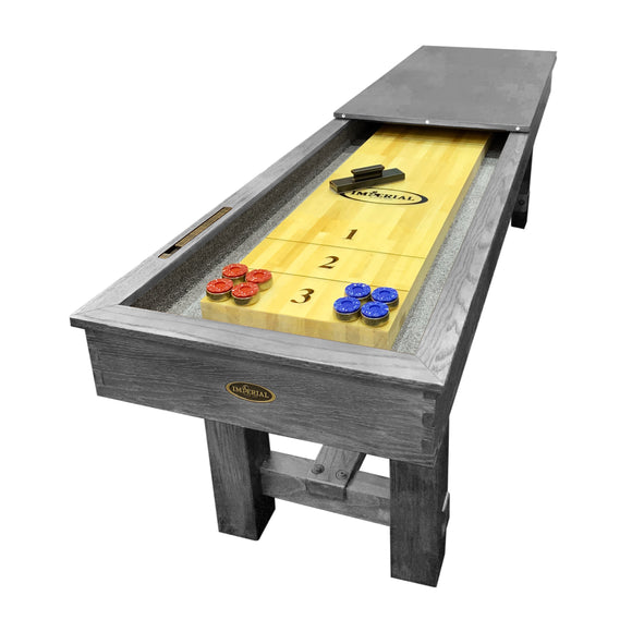 Imperial Reno Rustic 9' Shuffleboard Table in Silver Mist
