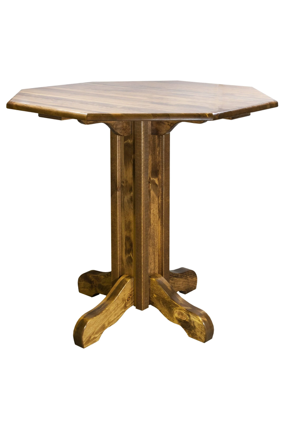 Montana Woodworks Homestead Pub Table - Stained and Lacquered