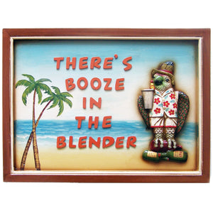 "RAM Game Room ""Booze in The Blender"" Wall Art Sign"