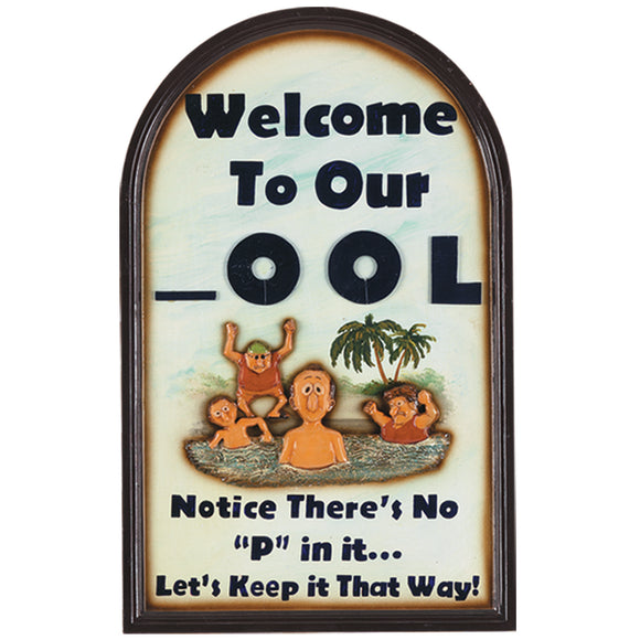 "RAM Game Room ""Welcome to Our _OOL"" Wall Art Sign"
