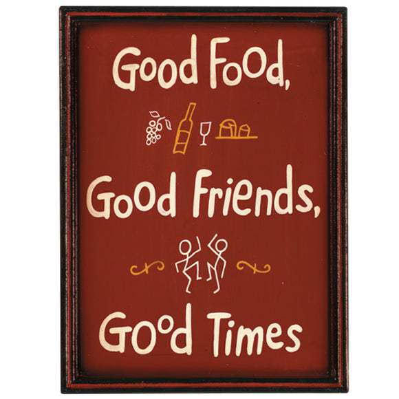 "RAM Game Room ""Good Food, Good Friends, Good Times"" Wall Art Sign"