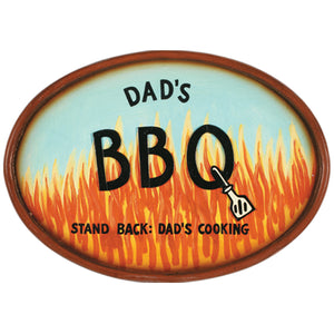"RAM Game Room ""Dad's BBQ"" Wall Art Sign"