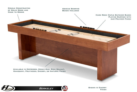 Hudson Berkeley Shuffleboard 9'-22' with Custom Stains